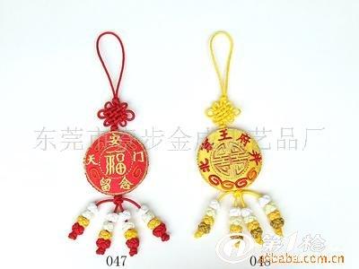 供应批发手工编织中国结 圆形图案