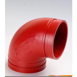 迈克管件消防管道专用连接件90度弯头