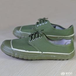 军绿色帆布军解放鞋批发