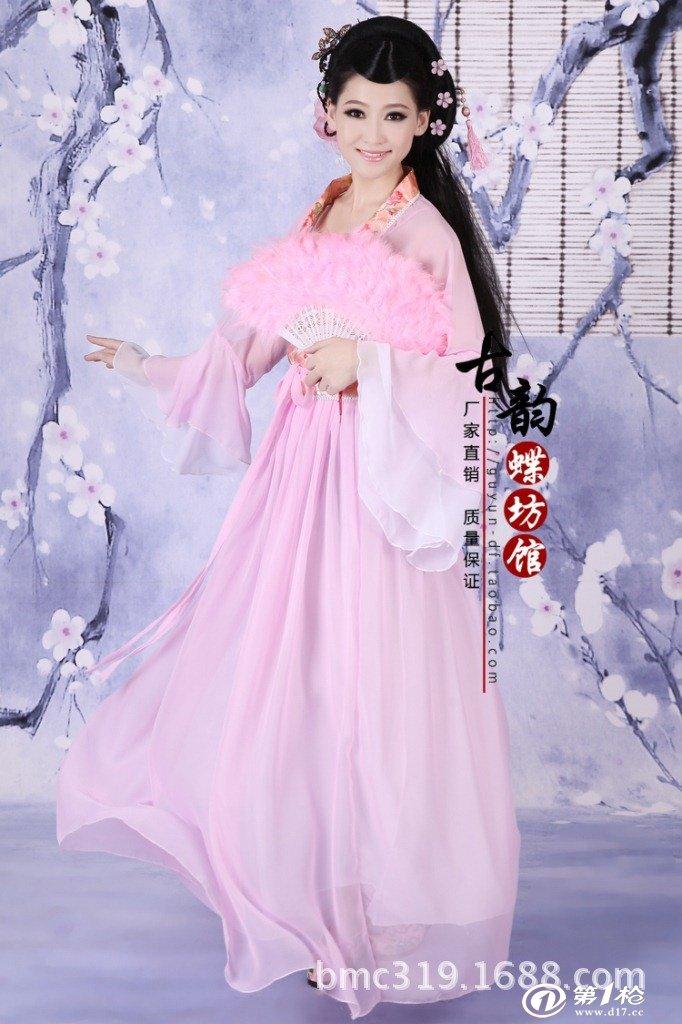 批发古装唐装汉服儿童演出服影楼写真古代古筝贵妃七仙女伴娘服装