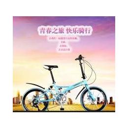 泰玛珑双碟刹20寸7速折叠自行车