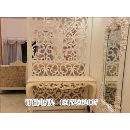 欧中式镂空雕花板实木雕刻隔断背景墙屏风订做批发