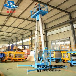 济南双力铝合金移动式升降平台双柱6米移动升降机升降货梯直销
