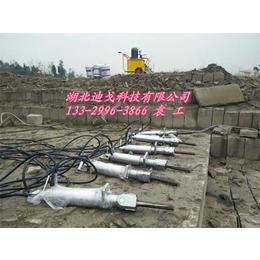 湖北露天石材开采替代绳锯迪戈分裂机供应二次分解石材设备