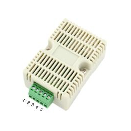 建大仁科RS-WS-N01-8扁卡轨导轨温湿度变送器