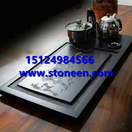 中国黑蒙古黑乌金石茶盘