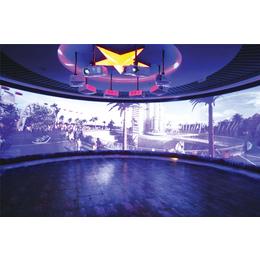 陕西西安投影融合+实像环幕显示系统+多通道环幕系统