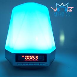 2016新款蓝牙音箱led小夜灯智能感应音响手机插卡便携音响
