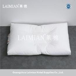 广州莱棉 星级酒店枕芯 学生枕 羽绒护颈枕低枕  特价批发