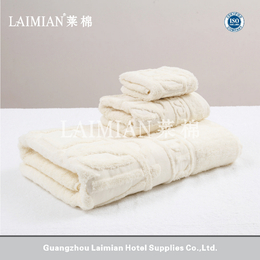 16S螺旋提花染色 星级酒店毛巾批发 米色纯棉方巾面巾浴巾