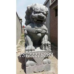 青石汉白玉大理石雕刻高2米石狮子