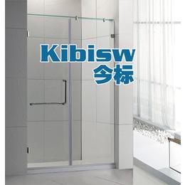 不锈钢无框淋浴房一字形沐浴房整体浴室隔断简易平开门屏风玻璃门