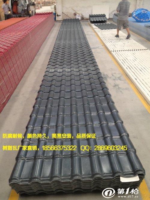 安徽滁州仿古塑料瓦 仿琉璃树脂瓦价格