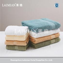 厂家直销 16S螺旋长毛染色缎档毛巾 星级酒店纯棉面巾浴巾