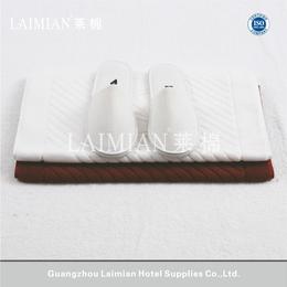 广州32S进口棉提花地巾 纯棉星级酒店毛巾 可染色 厂家直销