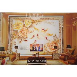 艺术玻璃浮雕背景墙影视墙