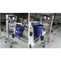 博飞牌专利产品10L16L18L中桶圆桶压盖机带自动排气系统