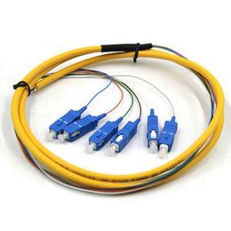 6芯SC多模束状尾纤光纤跳线束状尾缆62.5-125彩纤