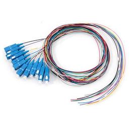 电信级12芯彩色束状SC光纤尾纤ODF12芯熔纤盘用单模方口