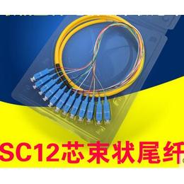 厂家热销12芯束状尾纤SC方头FC圆头单模光纤跳纤电信级