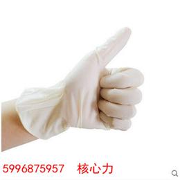 爱马斯AMMEX 一次性无粉麻面乳胶防护手套标准型 TLFC