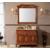 简欧式浴室柜组合 红橡木仿古 落地式雕花洗漱台缩略图2