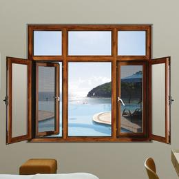 金富华108断桥窗纱一体 铝合金门窗