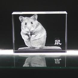 生肖礼品 动物内雕摆件 十二生肖内雕定制
