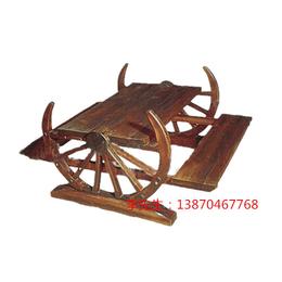 江西防腐木户外休闲桌椅车轮台凳