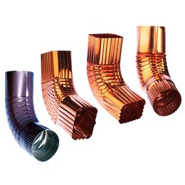 PVC矩形雨水管 PVC彩铝矩形雨水管出售