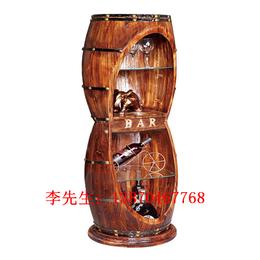 木酒桶  红酒桶 防腐木炭化木双层酒桶 酒吧酒桶
