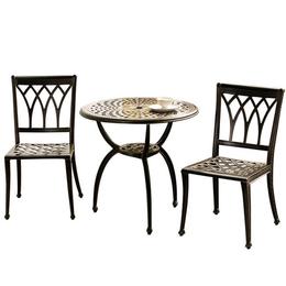 户外阳台桌椅三件套 户外金属桌椅 别墅花园桌椅 绿森源户外