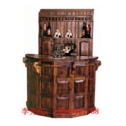 防腐木欧式经典吧台 简约艺术酒吧台小转角吧台实木吧台