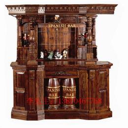 防腐木酒吧屋实木古典酒吧 吧台