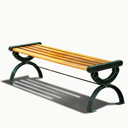 漂亮休闲公园长排椅户外公园椅简约实木铸铁椅 绿森源户外