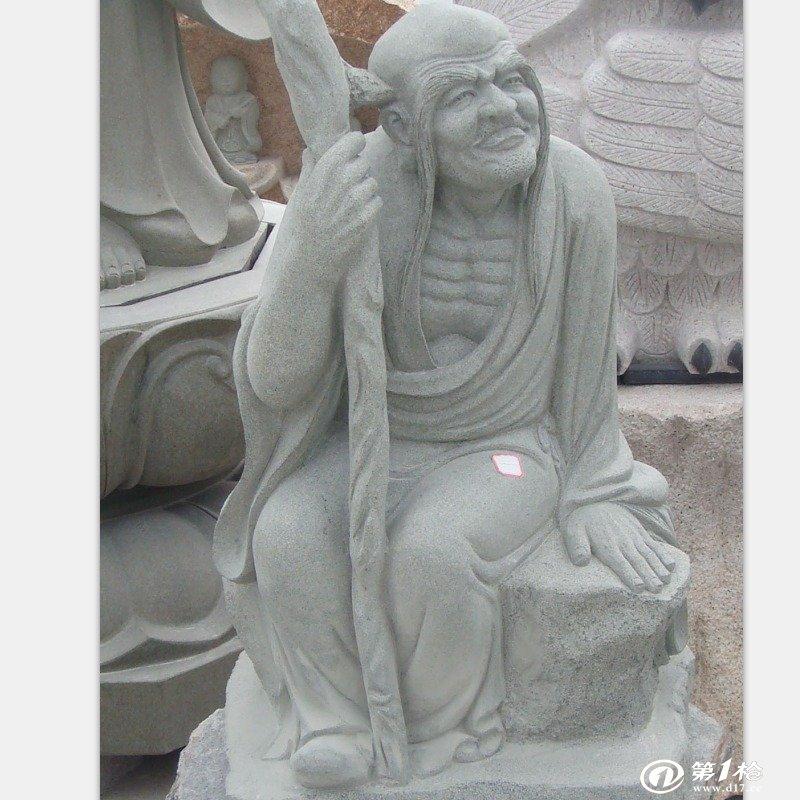 花岗岩石雕十八罗汉雕塑 寺庙供奉 公园摆放