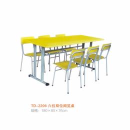 江西 多人双柱阅览桌 学校图书馆阅览桌