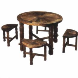 江西防腐木桌椅 太阳桌凳