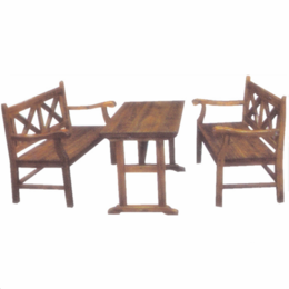 江西防腐木桌椅户外方木长桌凳