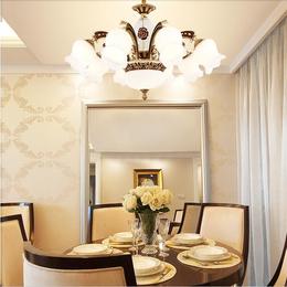 欧式吊灯客厅灯水晶灯美式锌合金复式楼简欧吊灯缩略图