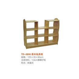 江西实木玩具柜 双面书柜