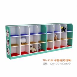 幼儿园实木彩色书包柜