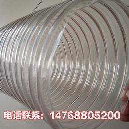 安徽pu钢丝螺旋风管 pu防静电钢丝软管 防bao耐磨吸尘管