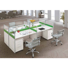 员工办公室白领4人屏风桌