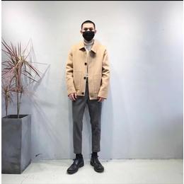 驰帝欧男士短款翻领灯芯绒夹克外套