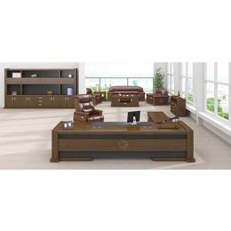 油漆鸡翅木传统风格办公桌办公大班台