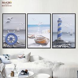 蘑菇堡 地中海风画装饰画