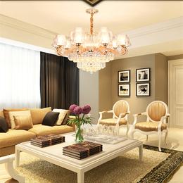 欧式水晶吊灯现代简欧水晶客厅