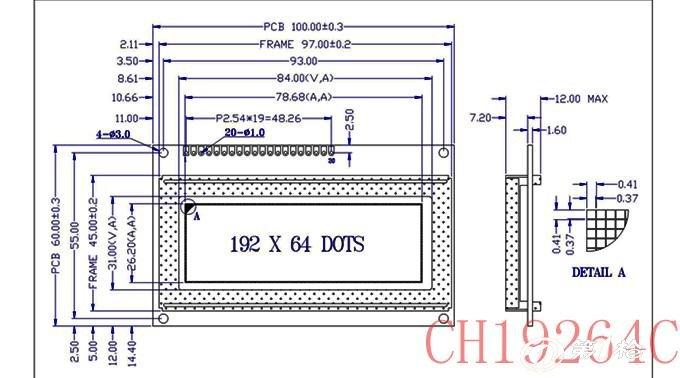 CH19264A点阵绘图型液晶显示模块(LCM)采用192x64点阵液晶显示屏(LCD)与低功耗LED背光组成。使用三个KS0108B及其兼容控制驱动器作为列驱动,同时使用KS0107B作为行驱动,内藏64x64=4096位显示RAM,8位并行数据接口,直接与6800系列微处理器接口相联,广泛应用于各类仪器仪表上。有白底黑字,蓝底白字,黄底黑字3种效果,欢迎来电洽谈.