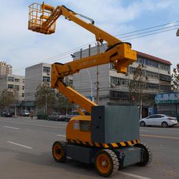 10米自行曲臂式液压升降平台车曲臂式高空作业平台车